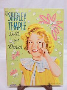 Vintage 1959 Saalfield Shirley Temple Paper Dolls & Dresses #1739 - UNCUT