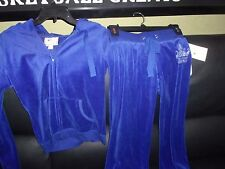 NWT WOMAN'S PINK ROSE 2PC ROYAL BLUE HOODED JOGGING SET REG $72 SIZE SMALL