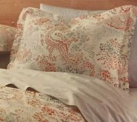 Dwell Studio Jakarta Set of 2 Standard Pillow Shams Sienna Copper Grey NEW