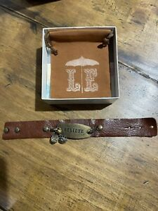 """Lenny and Eva Thin Leather Cuff with """"Believe"""" Sentiment FREE SHIPPING"""
