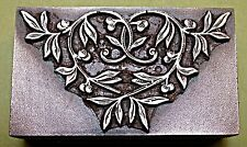 "ORNATE BOOKPLATE ""ENTWINED LEAVES"" PRINTING BLOCK."