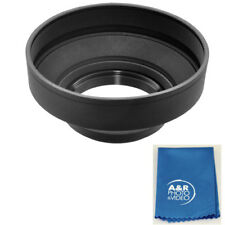 40.5mm Pro Soft Rubber Lens Hood For Nikon 1 V1 10mm 10-30mm 30-110mm 40.5