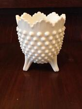 Fenton hobnail milk glass  Footed rose bowl
