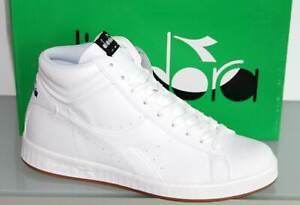 DIADORA High Top Sneaker Schnürer Basket Boots - GAME P HIGH White - Neu! Gr. 43