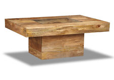 DAKOTA LIGHT SOLID MANGO FURNITURE LARGE COFFEE TABLE (84L)