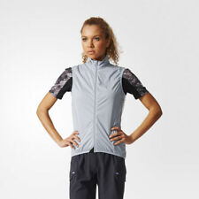 adidas Womens Lightweight Windproof Pro Cycling Gilet Full Zip Sleeveless Jacket