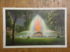 Vintage Postcard Fisher Rainbow Fountain, Highland Park, Hastings, Neb.