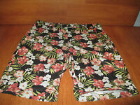 New Mens Size 38 38W Amplify Brown Floral Shorts