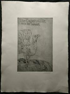 JOHN BELLANY CBE, RA (1942-2013) SIGNED LIMITED EDITION ETCHING THE CAPERCAILLIE