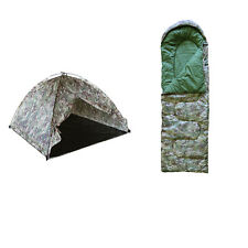 Kids Combat Adventure Sleepover Camping Army Military Tent & Sleeping Bag Set R