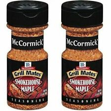 2 McCormick Smokehouse Maple Seasoning Grill Mates 2.5 Ounce Two Gourmet Rubs