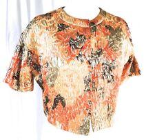 Deadstock New Vintage Melba Hobson for Mr. Gee Orange Green Gold Lame Jacket M/L