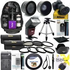 HD GIANT DSLR CAMERA FULL KIT FOR Nikon D3500 TRIPOD + 5 LENSES FLASH BACKPACK