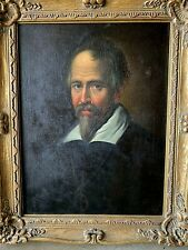 ANTIQUE 18TH CENTURY ITALIAN PORTRAIT ON A CLERIC