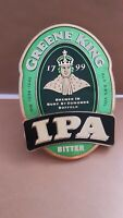 IPA GREENE KING  Pub Beer Pump Clip Badge Sign. Complete with Fixings