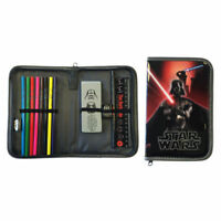 NEW Star Wars Filled Pencil Case Stationary Zip Up Pouch Bag Boys Kids