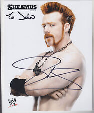 """SHEAMUS SIGNED 8"""" X 10"""" COLOR GLOSSY PHOTO WRESTLING WWE WWF SUPERSTAR CHAMPION"""