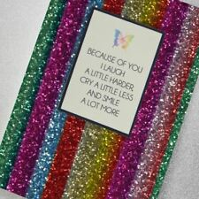 Counting Stars Greetings Card - Because Of You I Laugh a Little Harder…
