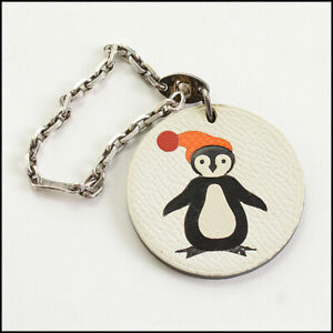 RDC10994 Authentic Hermes Penguin Leather Purse Charm