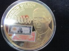 2014 UNC WOODROW WILSON AND THE FEDERAL RESERVE NOTES-$100,000 GOLD CERTIFICATES