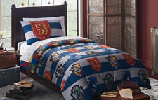 Harry Potter 4pc Twin Bedding Reversible Comforter Sheet Set Rugby Pride Bed Bag