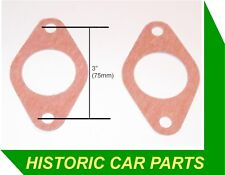 2 x SU Carb HV5 to Inlet manifold GASKET for MG TA Midget 1292 S/Charged 1938-39