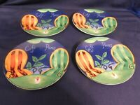 H2- Furio Cafe Paris Oval Salad Plates Lot of 4  (Sango)