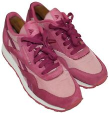 Reebok Ladies Womens Pink Lace Up Casual Athletic Sneakers Shoes Size 6.5
