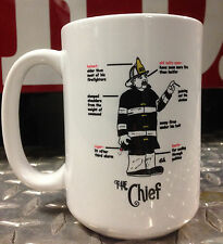 Chief Firefighter Ceramic Coffee Mug / Cup - Perfect Firefighter Gift