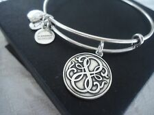 Alex and Ani  PATH OF LIFE  Russian Silver Charm Bangle New W/ Tag Card & Box