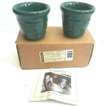 Nwt Longaberger Ceramic Candle Votives 2 Piece Votive Set New In Box Green Ivy