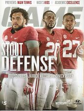 2014 Alabama vs Mississippi State Program DePriest, Williams, Perry 11/15/2014