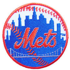 New MLB New York Mets logo embroidered iron on patch. 2.9 inch (i119)