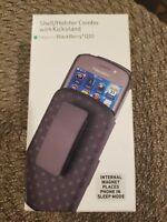 Original Blackberry Q10 Black Hard Case Shell & Belt Holster Combo & Kickstand