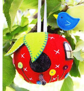 PATTERN - Apple House - cute felt decoration -  Creative Cards mini PATTERN