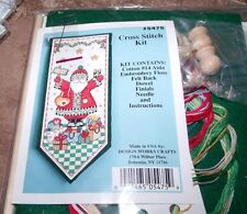 "Design Works CHRISTMAS SANTA JOY BANNER Counted Cross Stitch Kit  6"" x 12"""
