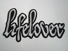 LIFELOVER BLACK METAL EMBROIDERED BACK PATCH