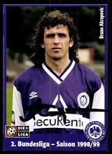 Bruno Akrapovic Autogrammkarte Tennis Borussia Berlin 1998-99 Original Si+A47060