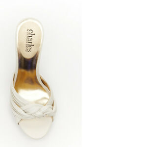 "Charles By Charles David Bone Leather ""SQIRE"" Sandals Women's Size 9.5"