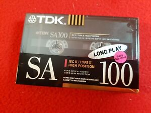 NEW Old Stock SEALED : TDK SA100 Type 2 High Cr02 Cassette Tape : W.Germany 1990