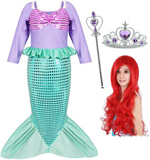 Joy Join Little Girls Princess Mermaid Costume for Girls Dress Up Party with 2-3