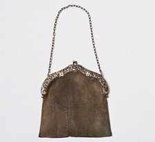 Theatertasche Handtasche 800 Silber 324 g um 1900 Damenhandtasche