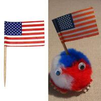 50x Deko-Picker USA Amerika Piekser Stars and Stripes Fähnchen Flagge Set