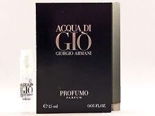 GIORGIO ARMANI ACQUA DI GIO PROFUMO 1.5ml .05oz x 1 COLOGNE SPRAY SAMPLE VIAL