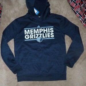 NEW NBA Memphis Grizzlies ADIDAS Hoodie Hooded Sweatshirt Youth Boys M 10 12 NWT