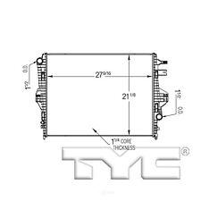 Radiator-Assembly TYC 13551 fits 11-16 Porsche Cayenne