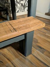 Oak F&B Grey Farmhouse Dining Table Set  (1500mm) x2 benchs (no chairs)
