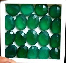 134.0 CT Natural Green Brazil Onyx Checker 19 PCS 15 X 11 MM Loose GemStone