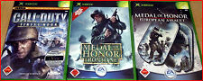 XBOX 3 SHOOTER GAMES AB 18! MEDAL OF HONOR- ASSAULT&FRONTLINE+CALL OF DUTY