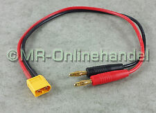 Ladekabel 4mm Bananenstecker Goldstecker > XT60 Gold Stecker Lipo Akku 30/37cm